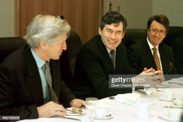 The Chancellor Gordon Brown met Union leaders and members of the business community at a breakfast meeting at the Hilton hotel in Glasgow LR Nick...