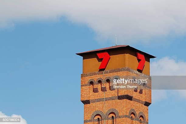 The Channel 7 logo sits atop the Seven Group Holdings Limited Pyrmont offices on April 13 2016 in Sydney Australia The NSW Supreme Court on Wednesday...