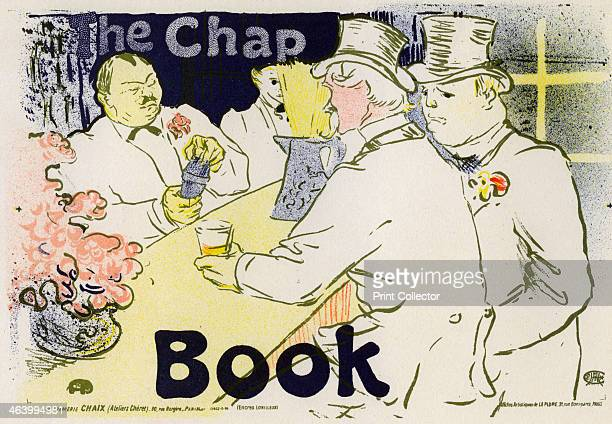 'The Chap Book' 1896 Poster for the AngloAmerican magazine The Chap Book showing a scene in the Irish and American Bar on the Rue Royale Paris