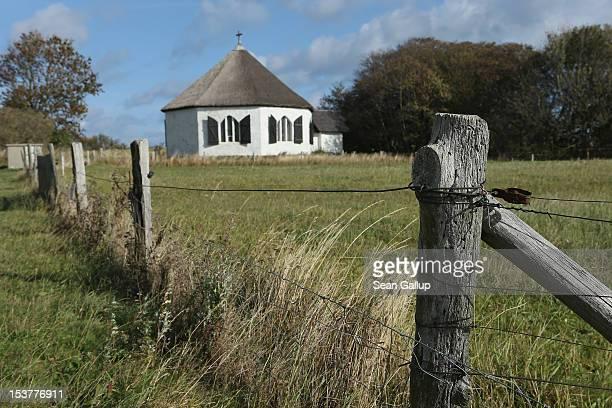 The chapel at Vitt on the Wittow peninsula of Ruegen Island stands on October 8 2012 near Putgarten Germany Ruegen is a popular tourist destination