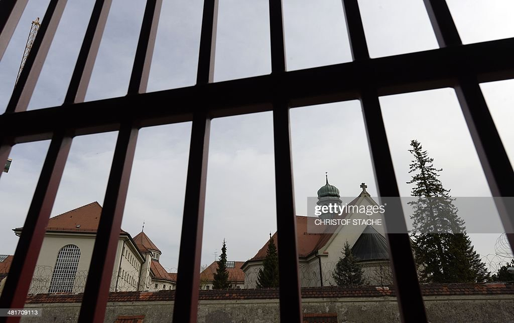 The chapel of the Landsberg prison in Landsberg southern Germany is pictured on March 31 2014 The former FC Bayern Munich President Uli Hoeness will...