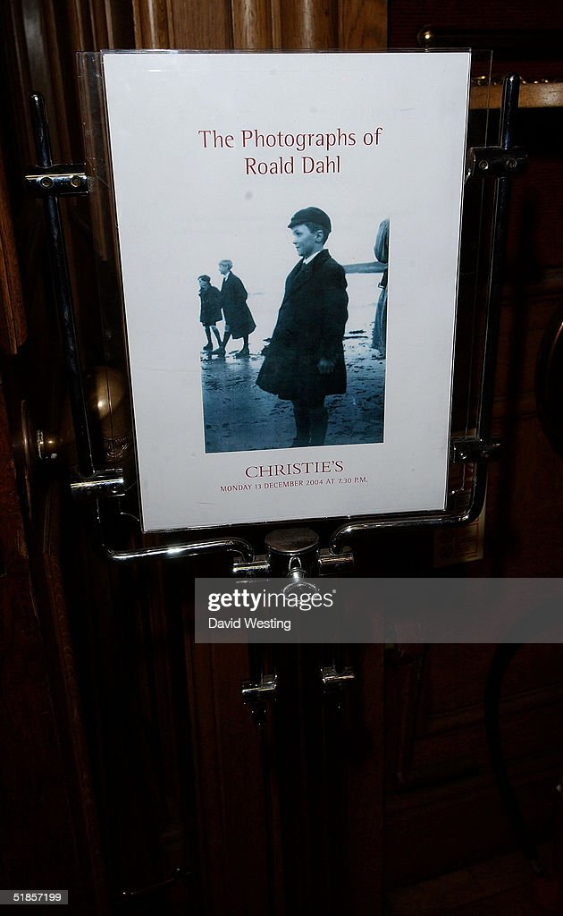 The charity auction of Roald Dahl's private photographs at Christie's auction house on December 13, 2004 in London. The photographs have been developed especially for the event by Roald's 18 year-old grandson Luke Kelly.