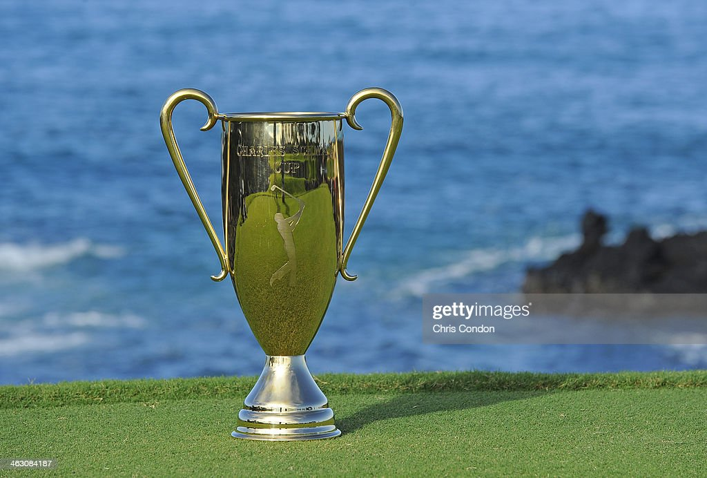 The Charles Schwab Cup on the 17th tee during the Thursday Pro Am at the Mitsubishi Electric Championship at Hualalai Golf Club on January 16, 2014 in Ka'upulehu-Kona, Hawaii.