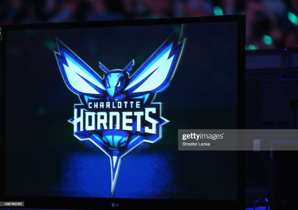 The Charlotte Bobcats unveil the new logo for next years team name change during their game at Time Warner Cable Arena on December 21, 2013 in Charlotte, North Carolina.