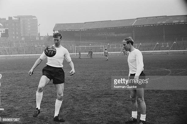 The Charlton brothers Jack and Bobby of the England football team UK 8th April 1965