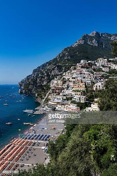 COAST POSITANO CAMPANIA ITALY The charming coastal resort village of Positano