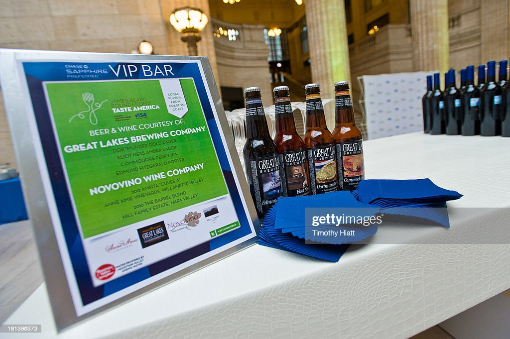 The Chase Sapphire Preferred VIP bar at The James Beard Foundation's Taste America: Local Flavor from Coast to Coast benefit dinner on September 20, 2013 in Chicago, Illinois.