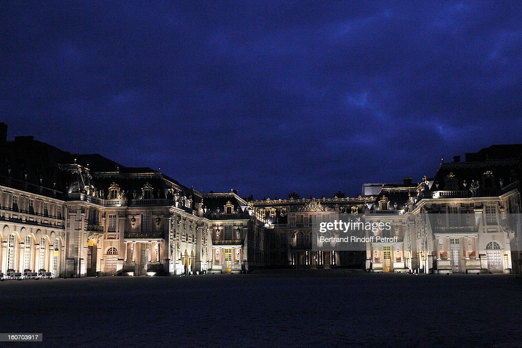 The Chateau de Versailles is seen prior to the gala dinner of Professor David Khayat's association 'AVEC' on February 4, 2013 in Versailles, France.