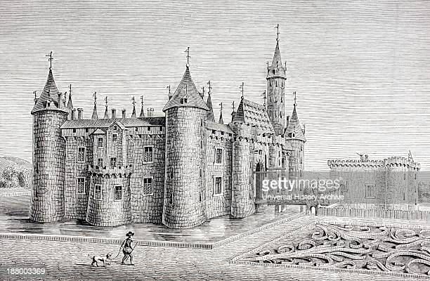 The Chateau Of Rambouillet France Built In The 14Th Century After An 18Th Century Engraving From Les Artes Au Moyen Age Published Paris 1873