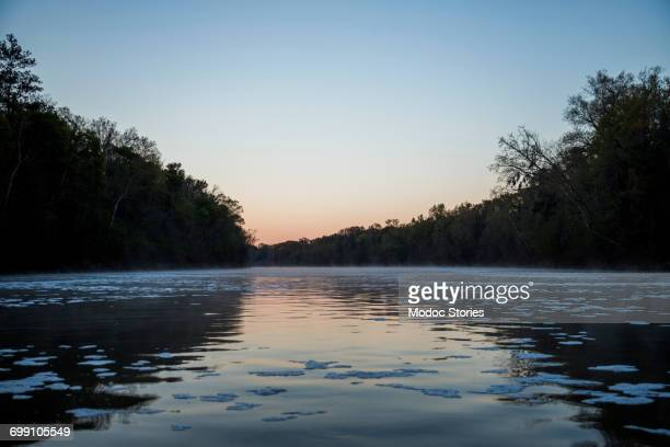 The Chattahoochee River at sunset in Georgia.