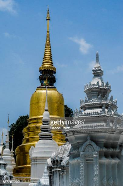 The Chedies of Wat Suan Dok