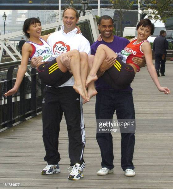The Cheeky Girls with Sir Steve Redgrave and Mark Bright