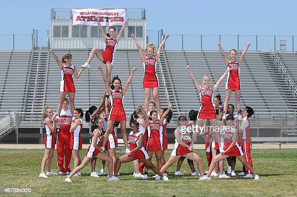The Cheerios practice in the GLEE episode 'Vitamin D' airing Wednesday Oct 7 on FOX