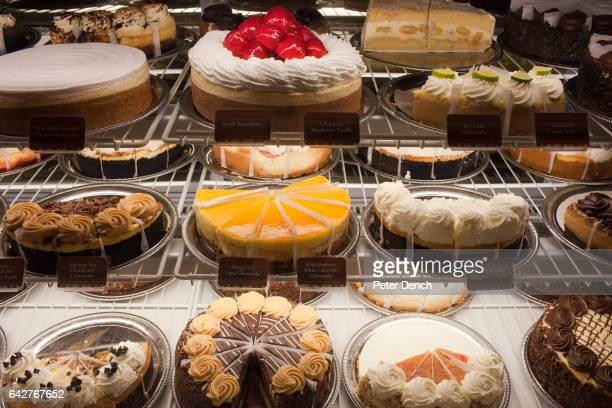 The Cheescake Factory display at the Mall of the Emirates is the US chain's largest outlet with 526 seats Diners can look out onto the indoor Ski...