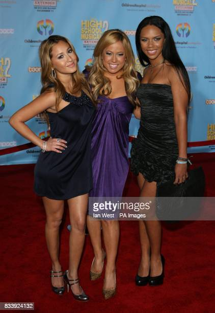 The Cheetah Girls arrive at the DVD premiere of High School Musical 2Extended Edition at the El Capitan Theatre in Los Angeles