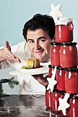 'The chef Gennaro Esposito showing his childhood Christmas meal the candele timbale with Neapolitain sauce Photo shooting Vico Equense December 2013 '