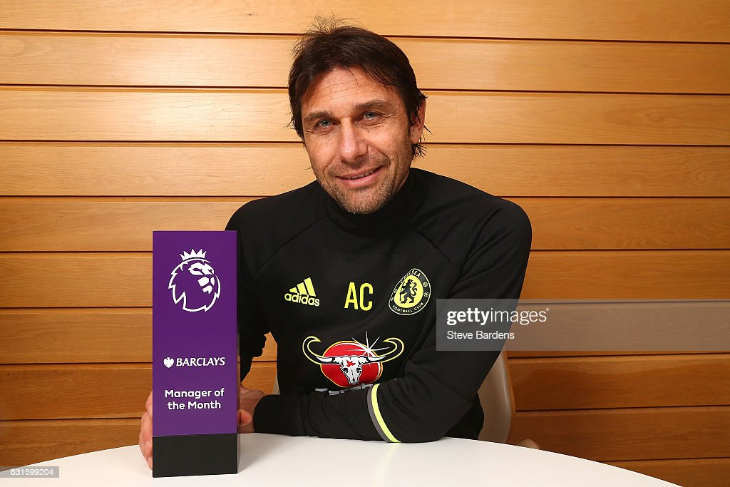 Premier League Manager of the Month Award is Presented to Antonio Conte