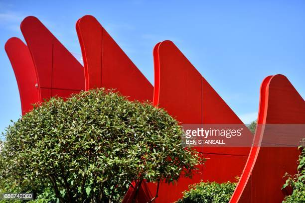 The 'Chengdu Silk Road Garden' is seen at the 2017 Chelsea Flower Show in London on May 22 2017 The Chelsea flower show held annually in the grounds...