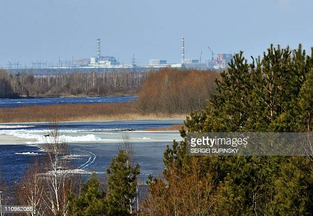 The Chernobyl Nuclear Power Plant is seen in the distance on March 23 2011 The 25th anniversary of the Chernobyl nuclear disaster will be...