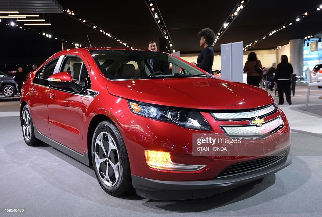 The Chevrolet Volt on display at the 2013 North American International Auto Show in Detroit, Michigan, January 15, 2013. AFP PHOTO/Stan HONDA