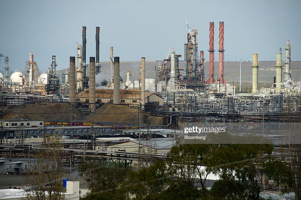 The Chevron Corp refinery stands in Richmond California US on Monday Oct 24 2011 Chevron Corp is expected to announce thirdquarter earnings on Oct 28...