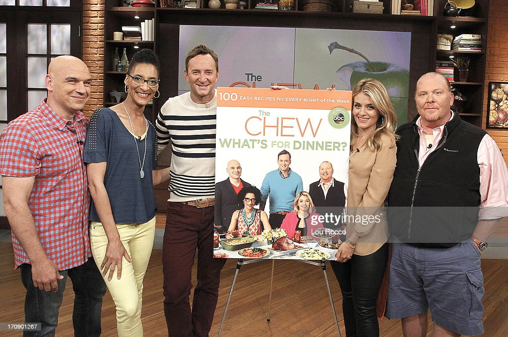 THE CHEW - 'The Chew' co-hosts reveal the cover of The Chew: What's for Dinner?, a new book from Hyperion to be released on September 24, 2013. 'The Chew' airs MONDAY - FRIDAY (1-2pm, ET) on the ABC Television Network. BATALI