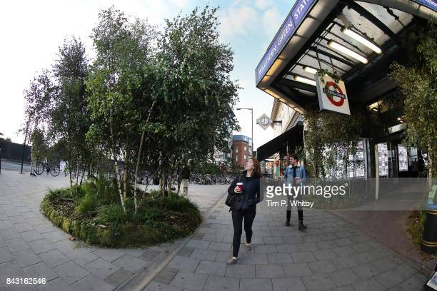 The Chewing Gum Action Group launches nationwide antigum littering campaign by transforming the outside of Willesden Green tube station into a wild...
