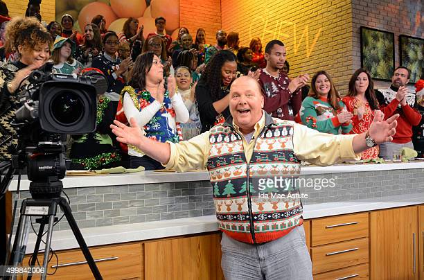 THE CHEW 'The Chew's Fifth Annual Ugly Sweater Party airs today Wednesday December 2 2015 'The Chew' airs MONDAY FRIDAY on the ABC Television Network