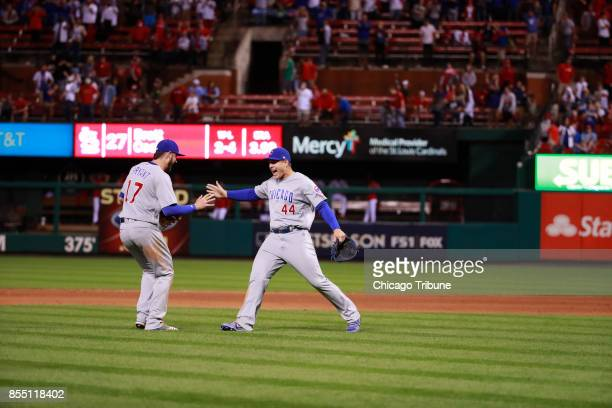 The Chicago Cubs clinched the National League Central Division with a 51 win against the Cardinals on Wednesday Sept 2017 at Busch Stadium in St...