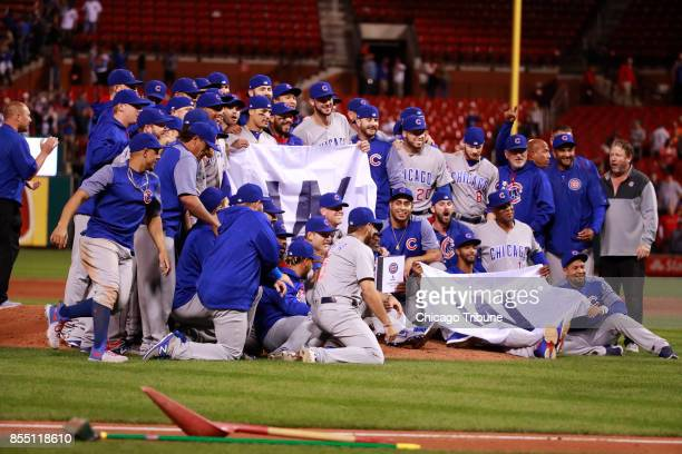 The Chicago Cubs clinched the National League Central Division with a 51 win against the St Louis Cardinals at Busch Stadium in St Louis on Wednesday...