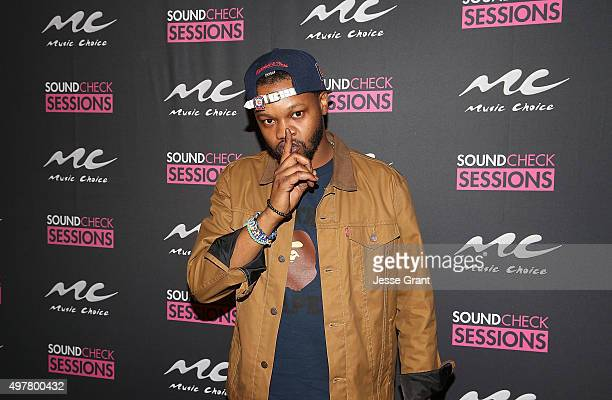 The Chicago Kid attends the Music Choice Presents Sound Check Sessions With Sevyn Streeter at El Rey Theatre on November 18 2015 in Los Angeles...