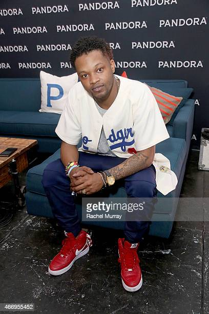 BJ the Chicago Kid backstage during the PANDORA Discovery Den SXSW on March 19 2015 in Austin Texas