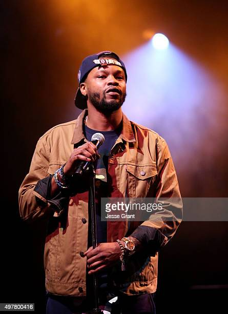 The Chicago Kid performs on Stage during the Music Choice Presents Sound Check Sessions With Sevyn Streeter at El Rey Theatre on November 18 2015 in...