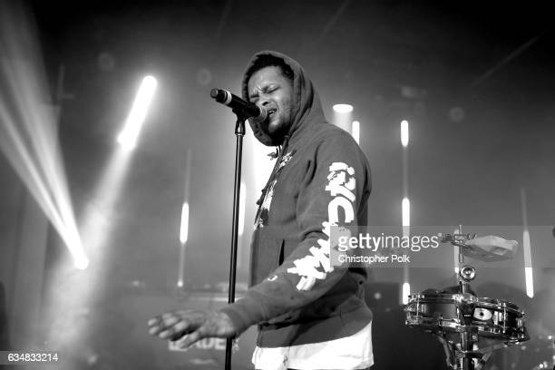 The Chicago Kid performs onstage at a mustsee lineup presented by The FADER and Mastercard at the Masterpass #ThankTheFans House on February 11 2017...