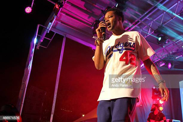 J The Chicago Kid performs onstage at the Pandora Discovery Den showcase during the 2015 SXSW Music Film Interactive Festival at The Gatsby on March...