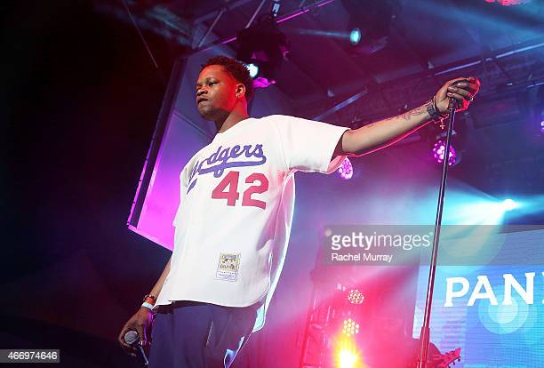 BJ the Chicago Kid performs onstage during the PANDORA Discovery Den SXSW on March 19 2015 in Austin Texas