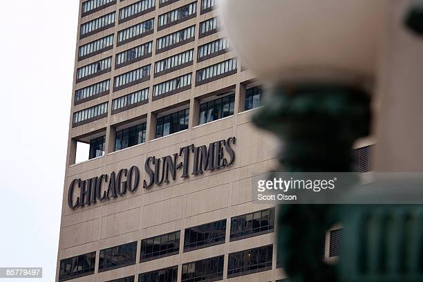 The Chicago Sun Times offices are seen April 2 2009 in Chicago Illinois The Chicago SunTimes' parent company the SunTimes Media Group filed for...
