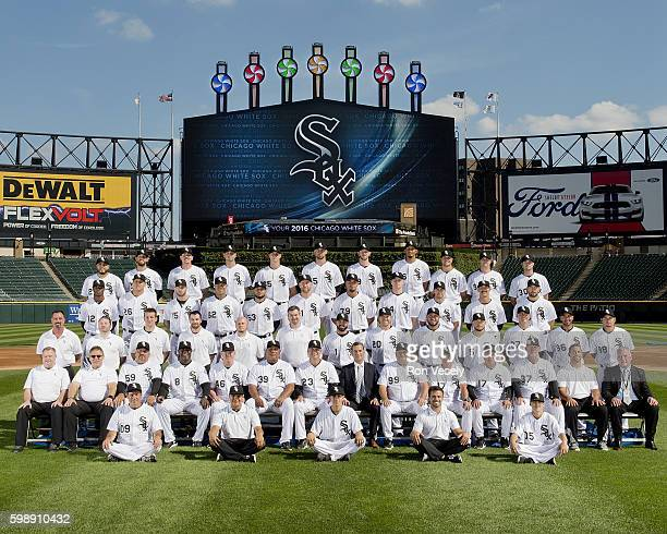 The Chicago White Sox pose for their 2016 official team photo prior to the game against the Philadelphia Phillies on August 23 2106 at US Cellular...