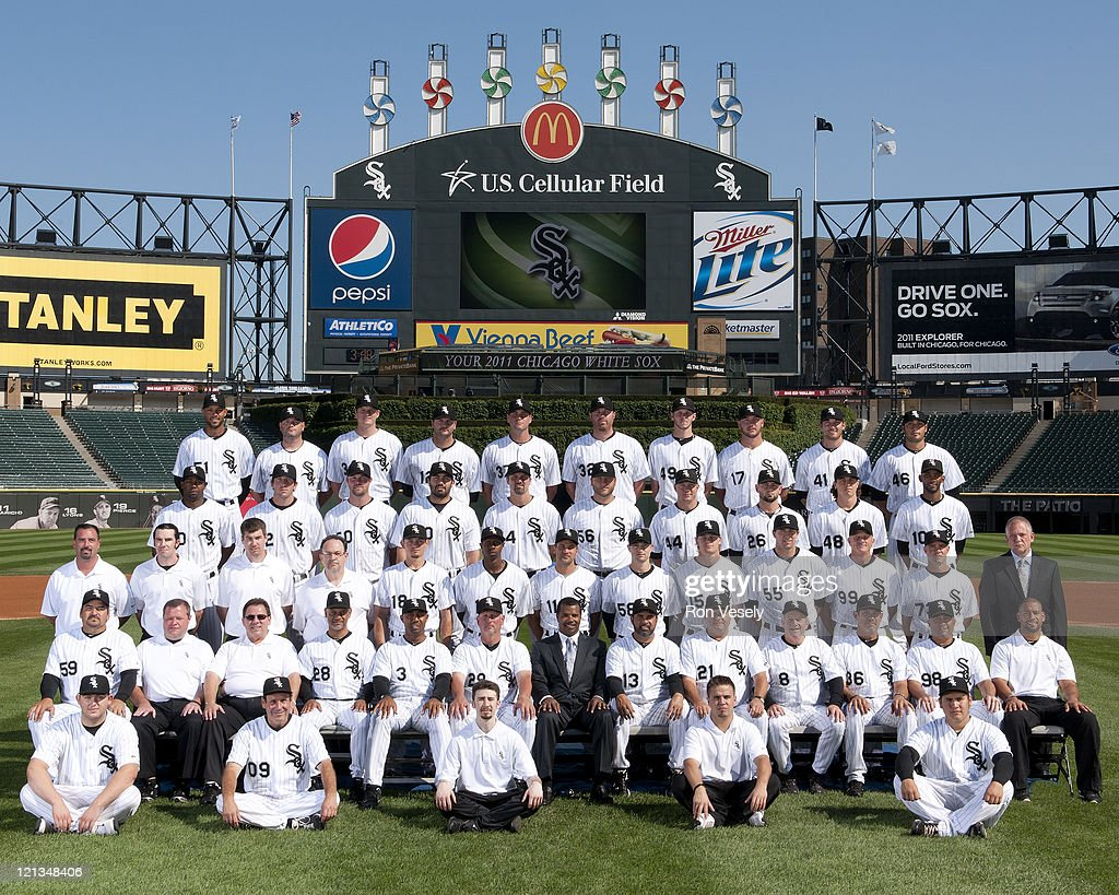The Chicago White Sox pose for their official team photo on August 16, 2011 at U.S. Cellular Field in Chicago, Illinois.