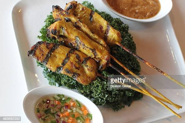 The chicken satay at Cha Yen Thai Cookery
