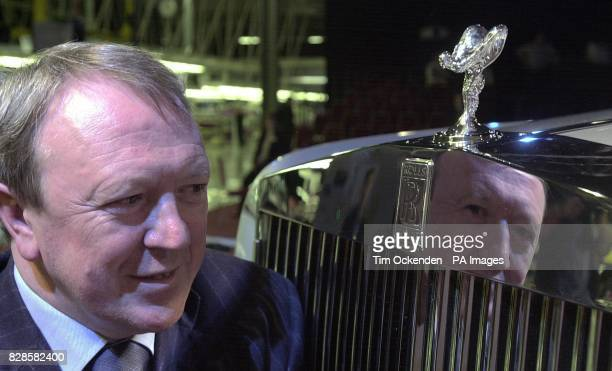 The Chief Executive and Chairman of Rolls Royce Tony Gott with the allnew RollsRoyce Phantom unveiled at the company's new manufacturing plant and...