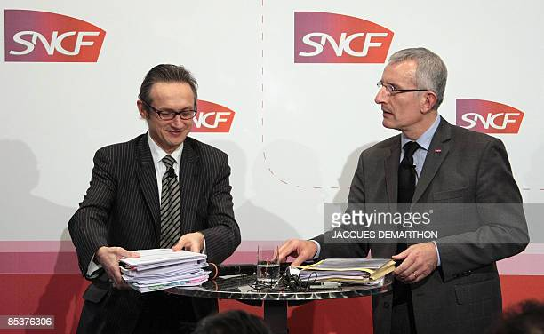 The chief executive officer of the French railway operator SNCF Guillaume Pepy and the group's financial director in charged of finance and strategy...