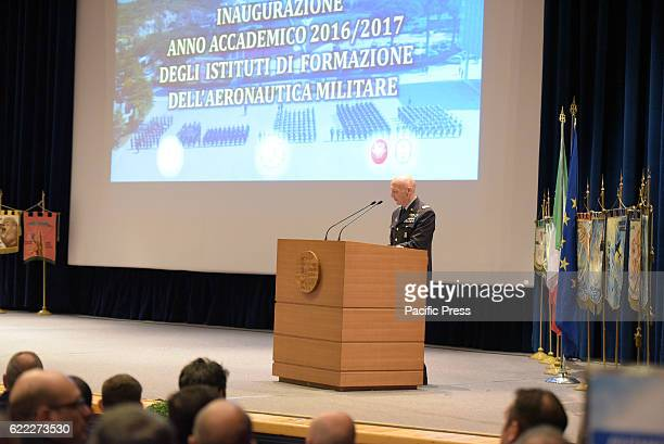 ACADEMY POZZUOLI NAPOLI ITALY The Chief of Staff Air Force Enzo Vecciarelli general aviation during the speech at the inauguration of the academic...