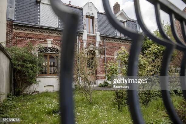 The childhood home of France's Presidential Candidate Emmanuel Macron stands in Amiens France on Tuesday April 11 2017 The son of a neurologist and a...