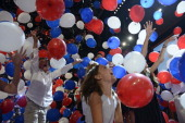 The children and grand children of Republican presidential candidate Mitt Romney and Vice presidential nominee Paul Ryan enjoy the hundreds of...