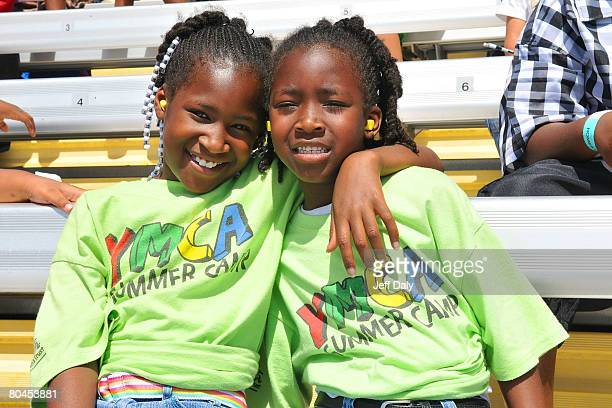 The Children of the YMCA of Greater Miami enjoy a day at The Homestead Miami Speedway on March 282008 in Homestead Florida