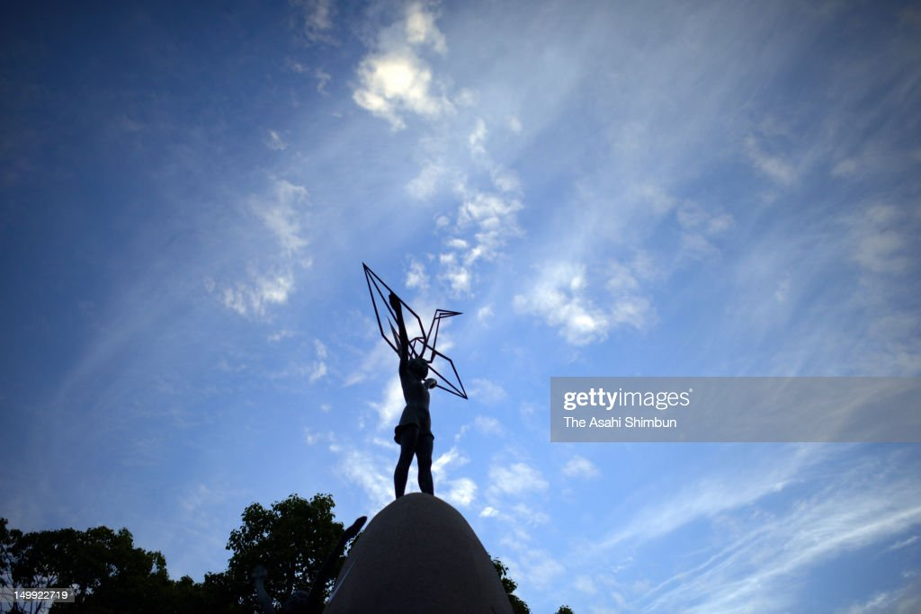 The Children's Peace Monument, or 'Genbaku no Ko no Zo' is seen at the Hiroshima Peace Memorial Park in the morning of August 6, 2012 in Hiroshima, Japan. Hiroshima marks the 67th anniversary of its atomic bombing under the shadow of the Fukushima nuclear disaster and by issuing a plea for complete nuclear disarmament.