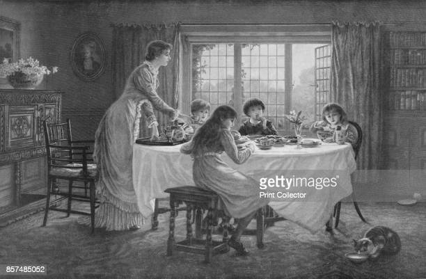 The Children's Tea' circa 1890 From Bibby's Annual 1911 [J Bibby Sons Liverpool 1911] Artist Helen Paterson Allingham