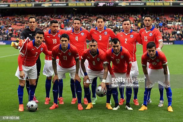 The Chile starting lineup Goalkeeper Claudio Bravo Gonzalo Jara Mauricio Isla Miiko Albornoz Eugenio Mena Rodrigo Millar Alexis Sanchez Pablo...