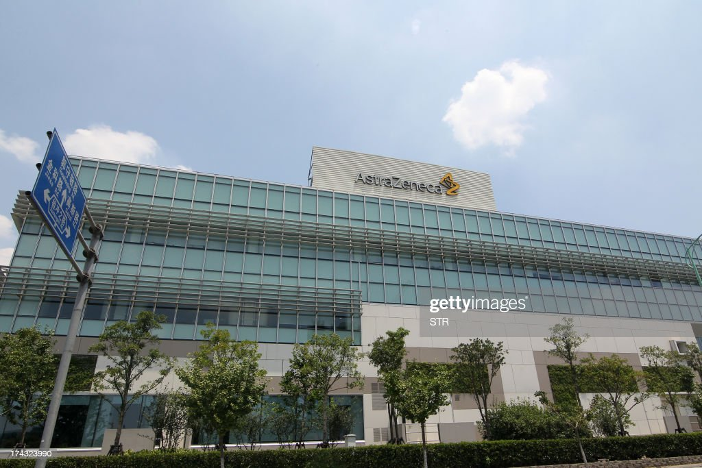 The China headquarters of British company AstraZenica is seen in the Zhangjiang district of Shanghai on July 24, 2013. Beijing's targeting of British pharmaceutical giant GlaxoSmithKline (GSK) in a high-profile bribery probe is a reminder of the risks foreign companies face when seeking the huge rewards of China's market, analysts say. Police say GSK staff offered government officials and doctors bribes, and took kick-backs from travel agencies to organise conferences, some of which were fake. Chinese authorities have also questioned three Shanghai-based employees of Britain's AstraZeneca, detaining two, and have visited the offices of Belgium's UCB, according to the companies, although they did not specify what was being investigated. CHINA